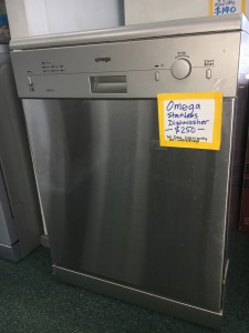 We have second hand dishwashers in stainless and white.